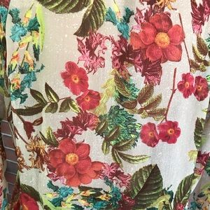 Investments Tops - Investments sheer  floral shirt blouse size medium